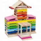 Viga Toys medinės kaladėlės Namelis