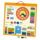Viga Toys medinis magnetinis kalendorius