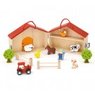 Viga Toys medinis namelis Ūkis 13 EL
