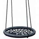 Apvalios sūpuoklės su tinkleliu (juodos spalvos)