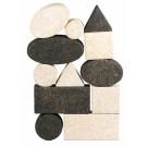 Korxx kamštmedžio kaladėlių rinkinys BLACK&WHITE MIX (79031)