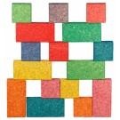 Spalvotų kamštmedžio kaladėlių rinkinys Korxx Cuboid C Mix (79027)