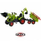 FALK didelis traktoriu CLAAS AXOS su priekaba ir buldozerio peiliu nuotrauka nr.2