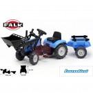 Falk  LANDINI POWERMONDIAL 110 traktorius su buldozerio peiliu ir priekaba