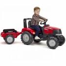 Falk Case Puma 240CVX minamas vaikiškas traktorius su priekaba