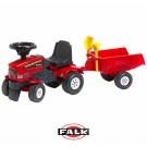 Falk Mustang traktorius - paspirtukas su priekaba ir smėlio žaislais