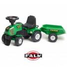 FALK traktoriukas - paspirtukas + priekaba, žalias