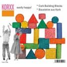 Spalvotų kamštmedžio kaladėlių rinkinys Korxx Form C Mix (79029)