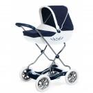 Smoby Inglesina Shara vežimėlis lėlėms su lopšiu, baltas
