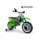 INJUSA Kawasaki Cross 6V elektrinis motociklas, tylūs ratai nuotrauka nr.2