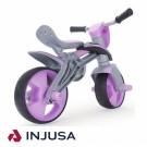 Injusa balansinis dviratukas su šalmu, rožinis