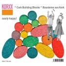 Spalvotų kamštmedžio kaladėlių rinkinys Korxx Kuller C Mix Edu (79042)