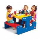 Little tikes didelis pikniko staliukas, mėlynas nuotrauka nr.2