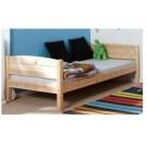Medinė lova paaugusiam vaikui/jaunuoliui 200 cm, balintos spalvos