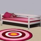 MINI lova paaugusiam vaikui/jaunuoliui 200 cm, su galiniu rėmu, balinta