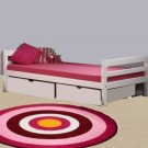 MINI lova paaugusiam vaikui/jaunuoliui 200 cm, su stalčiais, balinta