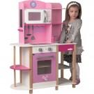 """Rožinė medinė virtuvėlė - """"Pelytė"""" nuotrauka nr.3"""