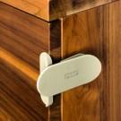 REER DesignLine kampinis užraktas durelėms ir stalčiams 2 vnt, taupe spalvos