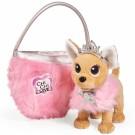 Simba žaislinis šuniukas Chi Chi Love Gražioji Princesė su krepšiu
