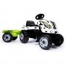 Smoby Farmer XL traktorius su priekaba, minami pedalai nuotrauka nr.4