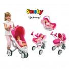 Smoby MAXI COSI Quinny 5in1 vežimėlis lėlėms, lošys, autokėdutė