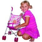 Sulankstomas vaikiškas lėlės vėžimėlis