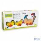 Traukiamas žaislas Višta ir viščiukai