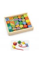 Viga Toys edukacinės medinės kaladėlės