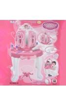 Vaikiškas tualetinis staliukas su garsu ir šviesomis Glamour Mirror