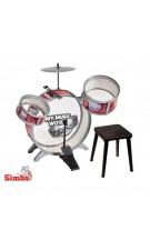 Simba Instrument Perkusja 3 bębny talerze werbel + krzesełko nuotrauka nr.2