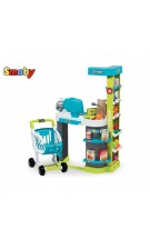 SMOBY Supermarket City Shop Kasos vežimėlis su aksesuarais nuotrauka nr.1