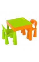 Vaikiškas baldų komplektas: stalas ir 2 kėdutės