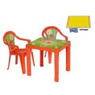 3TOYSM ZMT vaikiškas staliukas ir kėdutės su piešimo lenta