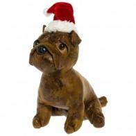 Durų stabdis - sėdintis šuniukas su kepure