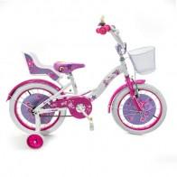 """Vaikiškas dviratis Vicky 16"""" su kėdute lėlėms"""