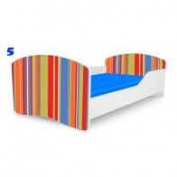 NOBIKO vaiko lova su čiužiniu Rainbow Linksmosios juostos
