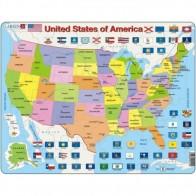 Larsen dėlionė (puzzle) JAV žemėlapis Maxi
