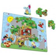 Larsen dėlionė (puzzle) Namelis medyje Maxi