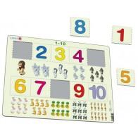 Larsen dėlionė (puzzle) Skaičiuojam iki 10 Maxi