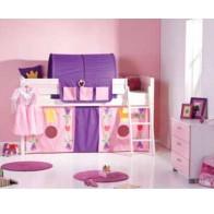 Pusaukštė medinė lova Princesės komplektas