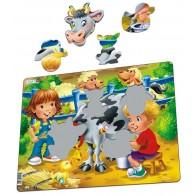 Larsen dėlionė (puzzle) Karvytės draugai Maxi