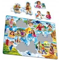 Larsen dėlionė (puzzle) Viso pasaulio vaikai Maxi
