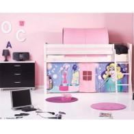 Medinė pusaukštė lova Pop mergaitės komplektas