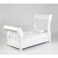 TROLL Sleigh transformuojama lovytė su stalčiumi, baltos spalvos