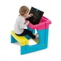 Smoby vaikiškas staliukas su dvipuse piešimo lenta