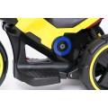 PROGRESJA SW-0198A Vaikiškas elektrinis motociklas 6V geltonas nuotrauka nr.11