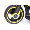 PROGRESJA SW-0198A Vaikiškas elektrinis motociklas 6V geltonas nuotrauka nr.9