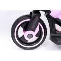 PROGRESJA SW-0198A Vaikiškas elektrinis motociklas 6V rožinis nuotrauka nr.8