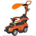 ALEXIS UR-HZ635 vaikiškas paspirtukas - mašinytė 2in1 su stogeliu oranžinis nuotrauka nr.1
