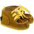 GUCIO stilingi vaikiški batukai, didelėm skylėm-geltoni
